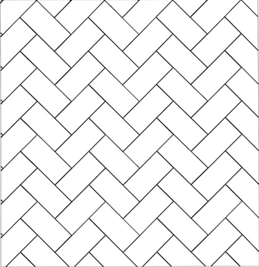 Herringbone subway tile pattern